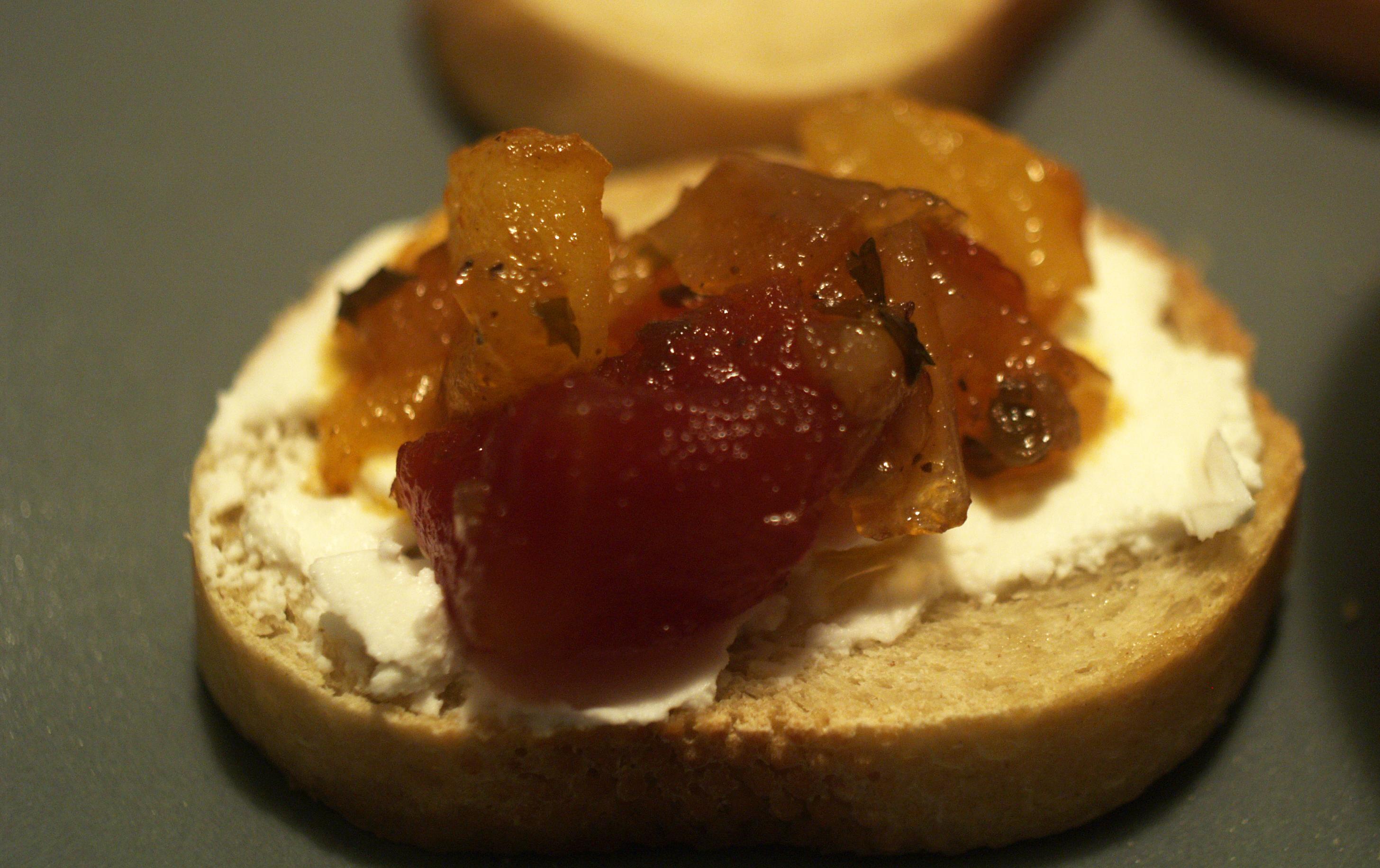 ... with goat green tomato bacon jam burgers tomato goat cheese polenta